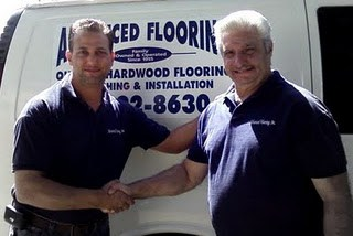 Hardwood Flooring Contractors, Joe & Nick Plaumbo, father & son, Advanced Hardwood Flooring, Brooklyn NY